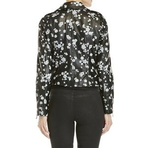 MICHAEL Michael Kors Jackets & Coats - MICHAEL Michael Kors Floral Faux Leather Jacket